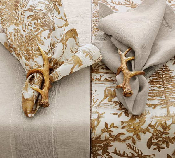 Gold Antler Napkin Rings