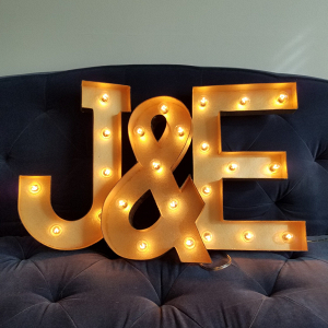 Gold Marquee Light Letters