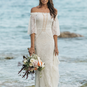 Boho Bodycon Wedding Dress