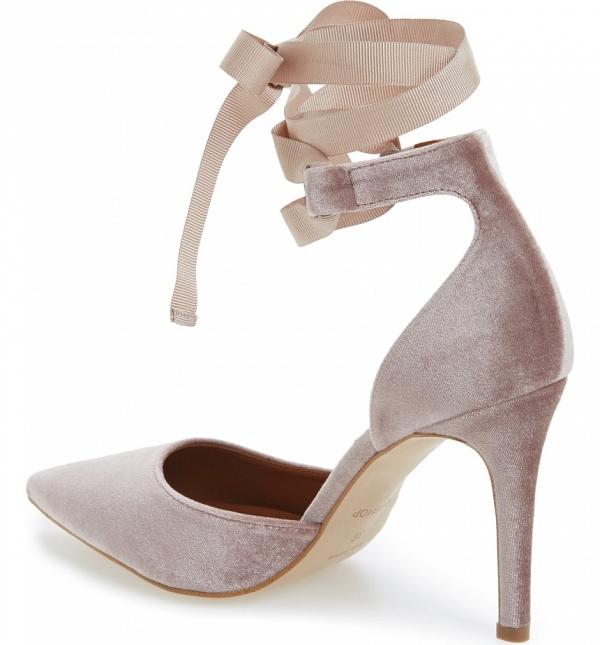 Blush Velvet Bridal Shoes