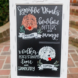 Signature Cocktail Chalkboard Sign