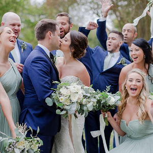 Sage Green and Gold Virginia Wedding