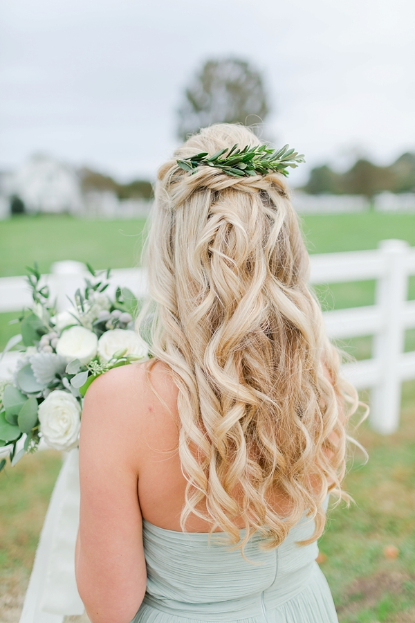 Greenery Floral Hair Comb