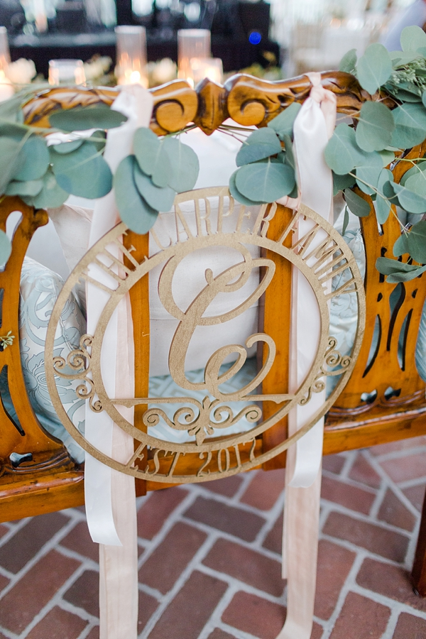 Wood Circle Frame Monogram