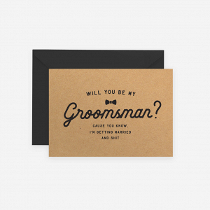 Will You Be My Groomsman Proposal Card