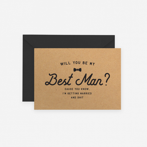 Will You Be My Best Man Proposal Card