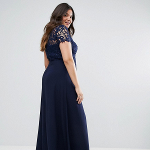 High Neck Maxi Dress with Crochet Lace Back
