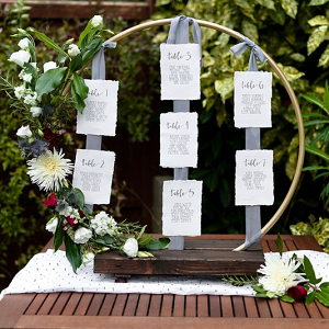 DIY Homemade Hula Hoop Wedding Seating Chart