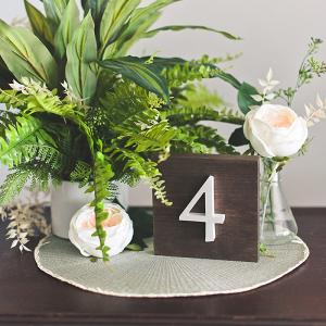 DIY Pearl Wedding Table Numbers
