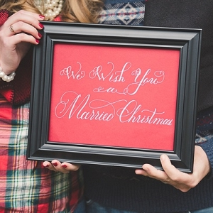 We Wish You a Married Christmas Sign