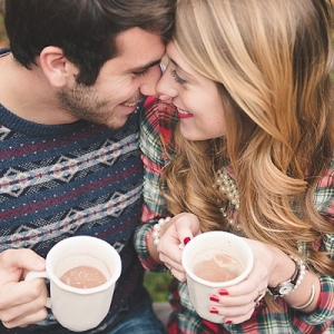 Newlyweds and hot cocoa
