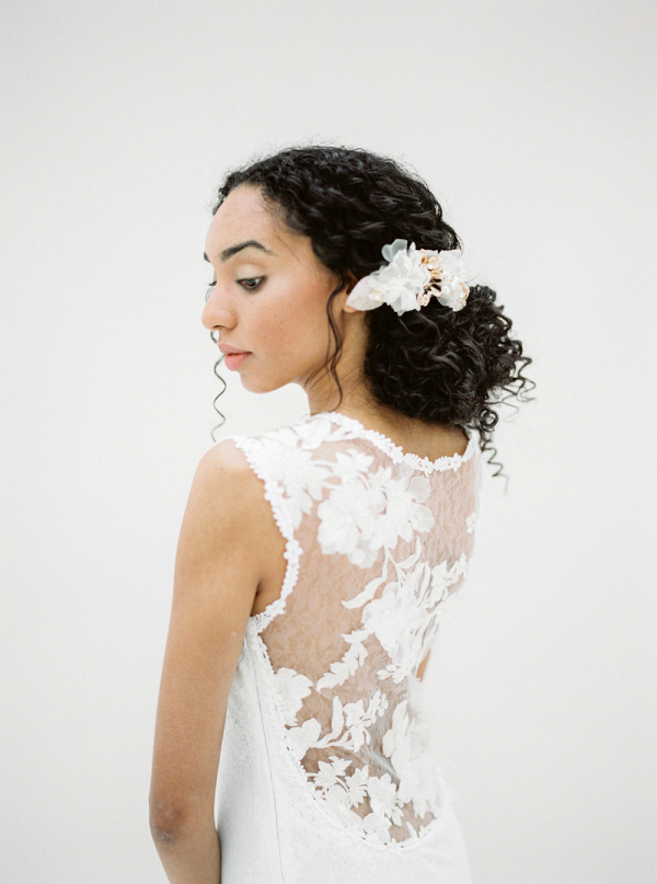 Romantic Lace Illusion Back Wedding Dress