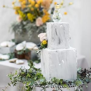 Concrete looking wedding cake