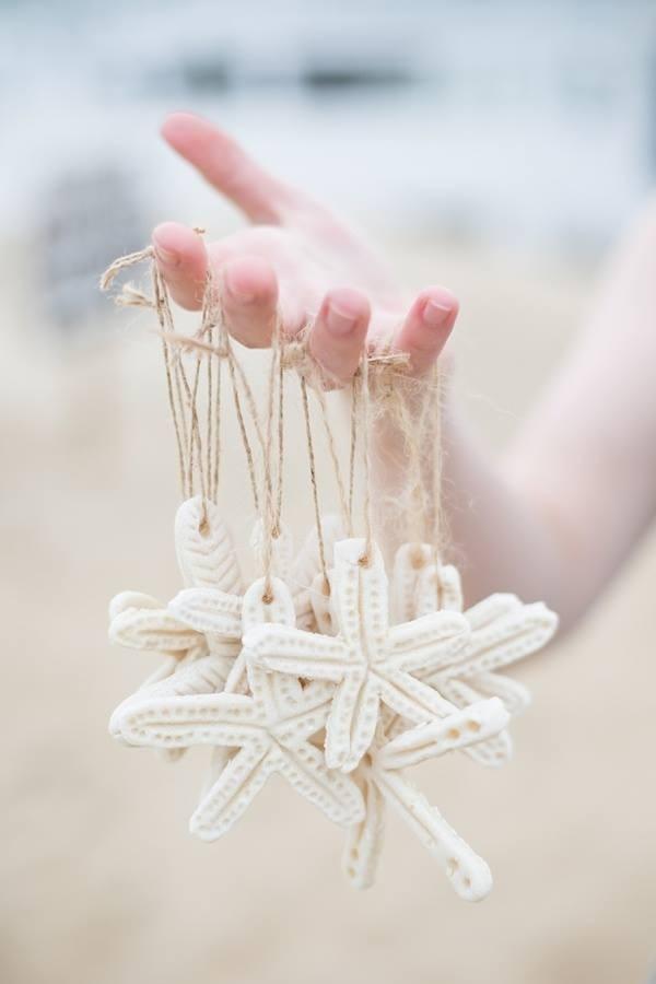 Salt dough starfish ornaments