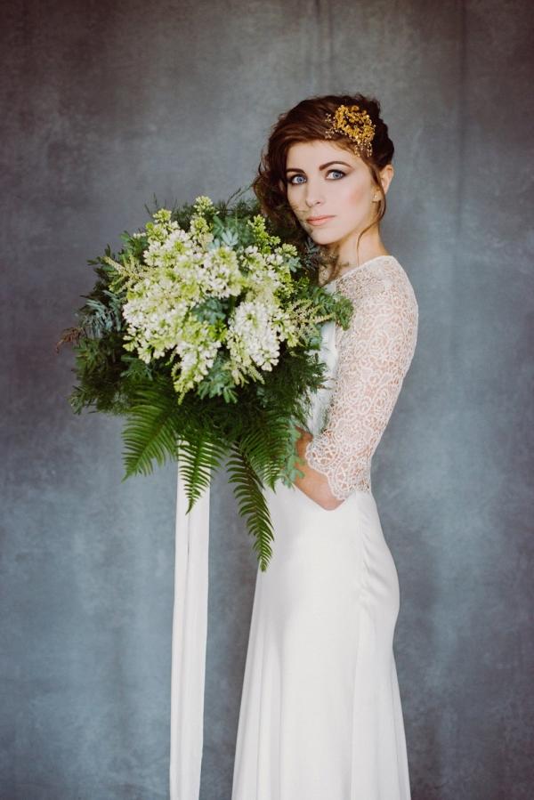 Ivory Silk Bouquet Ribbon