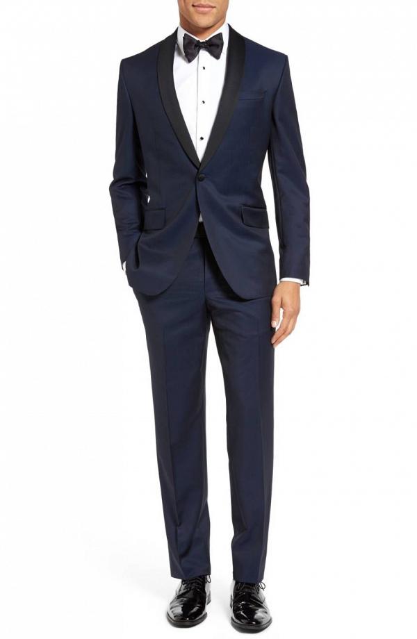 Black and Navy Blue Ted Baker Tuxedo