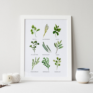 Kitchen Herbs Printable Art