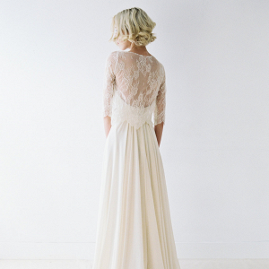 Romantic Wedding Dress and Lace Shirt