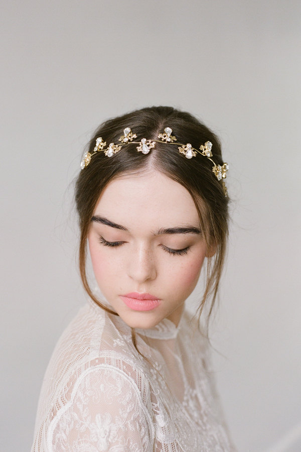 Gold Crystal Bridal Headpiece
