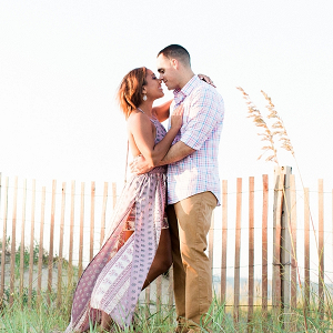 Engagement session at sunset
