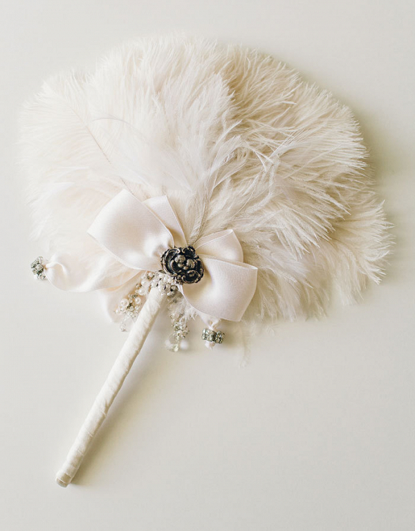 Ivory Feather Fan