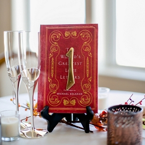 Vintage book table number