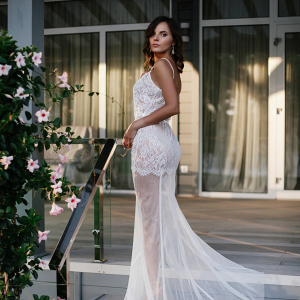 Long Tulle Bridal Nightgown