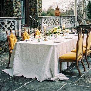 Mustard yellow wedding chairs