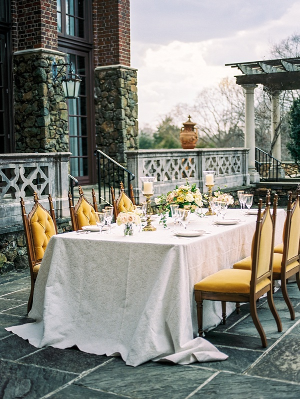 Mustard yellow wedding chairs