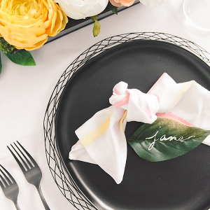DIY Tutorial for Modern Tie Dye Wedding Napkins