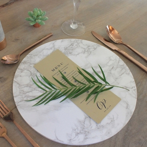 Wedding Marble Charger Plate