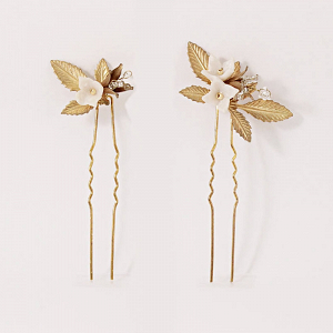 Gold Mariposa Hair Pins