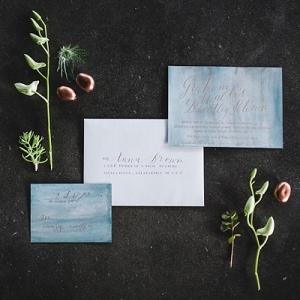 Masculine coastal wedding invitation