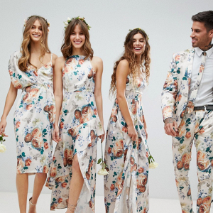 Mismatched Floral Bridesmaid Dresses