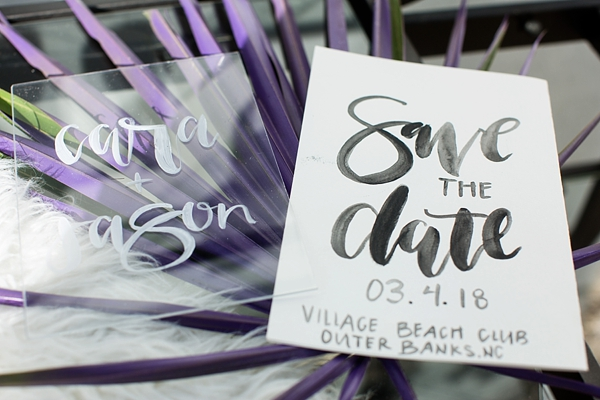 Acrylic Calligraphy Save the Dates
