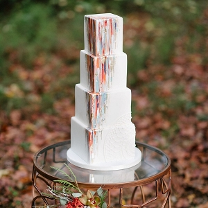 Epic modern art wedding cake