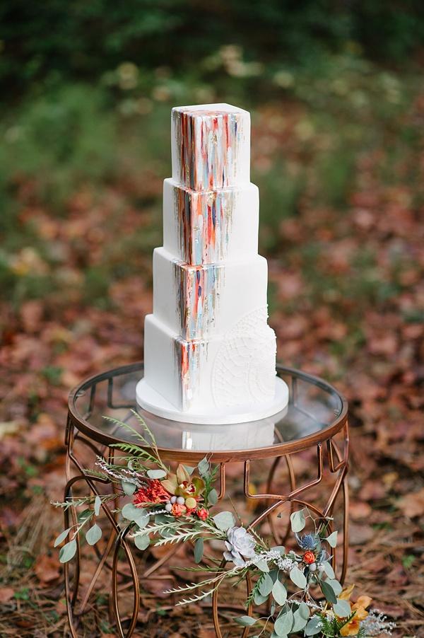 Epic modern art wedding cake