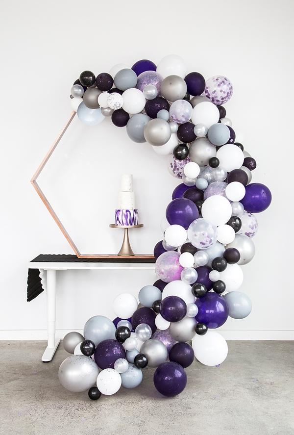 Pantone Ultra Violet Wedding Balloon Garland Idea
