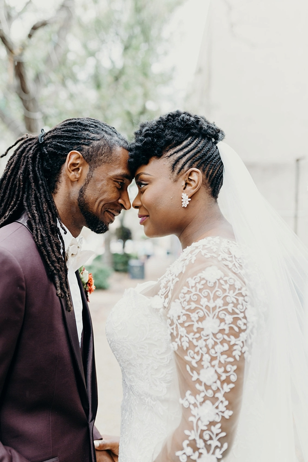 Stylish Black Bride and Groom Natural Hairstyles