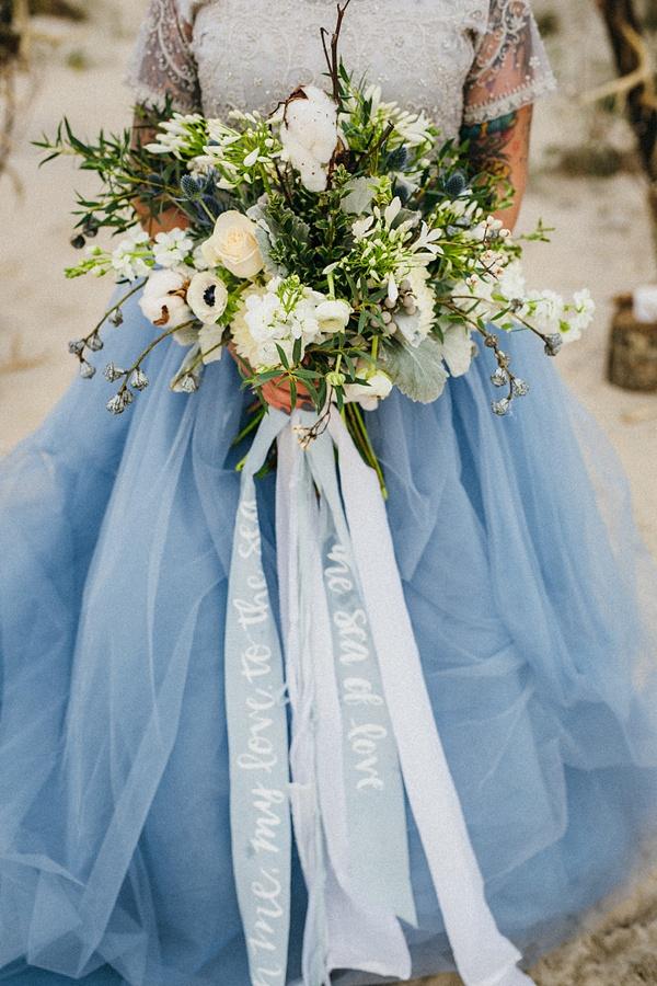 Coastal modern wedding bouquet