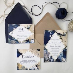 Modern Marble Wedding Invitations