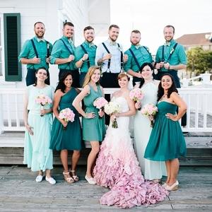Epic pink wedding dress
