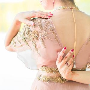 Henna on bride