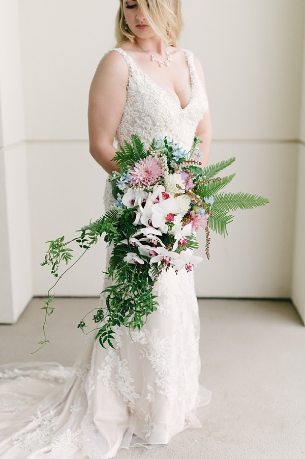 Exotic tropical wedding bouquet