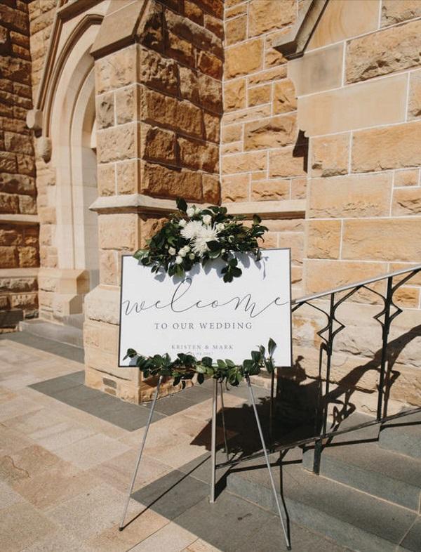 modern wedding welcome sign printable