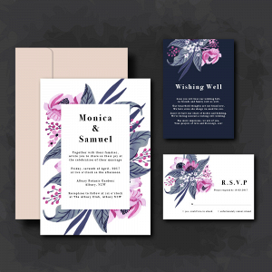 Modern Whimsical Invitation Suite
