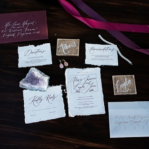 Modern calligraphy invitation