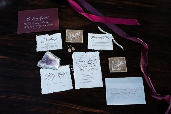 Modern calligraphy invitation