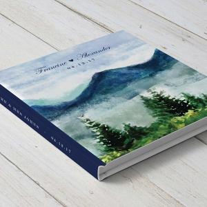 Customisable Mountain Wedding Guestbook