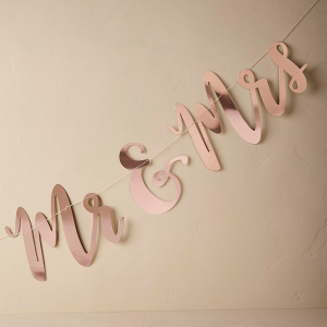 Copper Mr & Mrs Sign